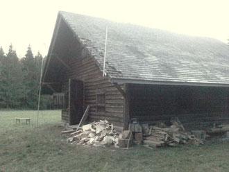 Hier ist der Ort des Geschehens.........die Wittemle-Hütte im Blasiwald