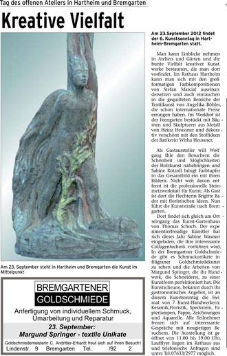 Markgräfler Bürgerblatt 13. September 2012