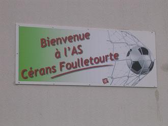 Panneau d'accueil du Stade AS Cérans Foulletourte