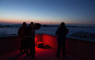 Foto: Thomas Aumeier, oben Venus und unten Jupiter