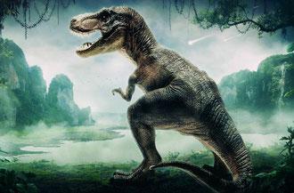 fiche animaux disparus dinosaure tyrannosaure t-rex