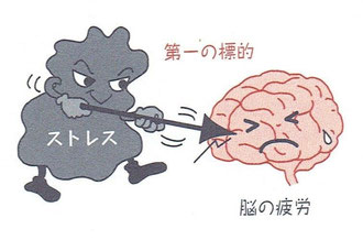 ストレスの第一の標的は脳