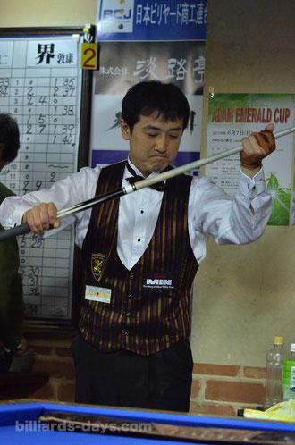 Ryuji Umeda winning 2015 All Japan 3-cushion