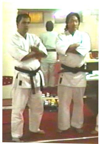 Shihan Francesco Cuzzocrea con Shihan Tatsuto Sadanobu 1992