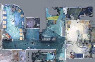 3D-Laserscanning: Punktewolke Grundriss