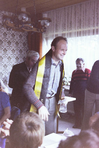 Paul Herbig hier bei der Siegerehrung im Gerhard Haupt Preis in Amberg (1978)