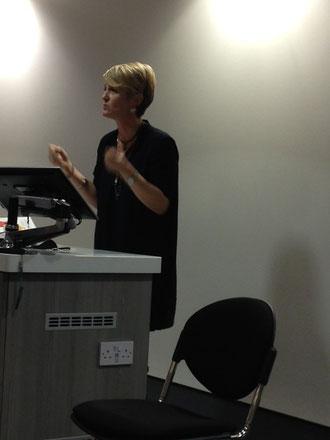 valentina author s e lynes gives talk at kingston university