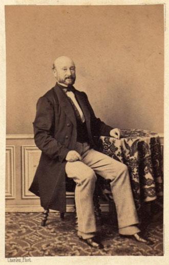 M. Pepratz (prénom ?) - photo trouvée par Mme Delorge, au château du Vert, à Arbis.