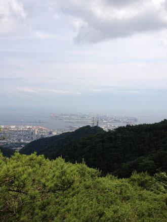 神戸の景色がみえてきたよー!!