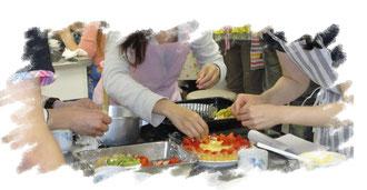 料理サークルレッツの活動風景