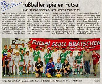 Aus: Dorstener Zeitung / Ruhr Nachrichten, 13.01.2012