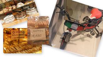 dolci und Ferrari-Dreirad für Kasimir, Cäsar und Fredi