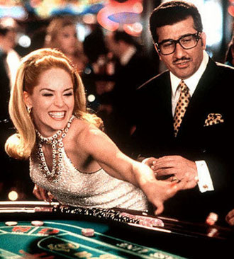 Sharon Stone in Montenegro's casino