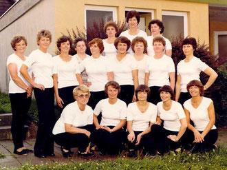 Die Mitgliederinnen der Gymnastikabteilung im Jubiläumsjahr 1982.