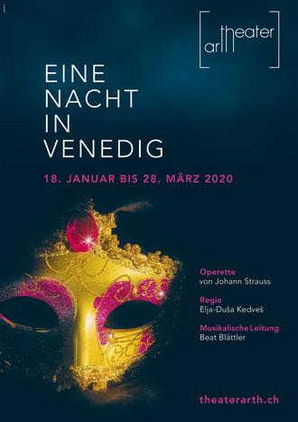 """Plakat """"Eine Nacht in Venedig"""" - Theater Arth 2020"""