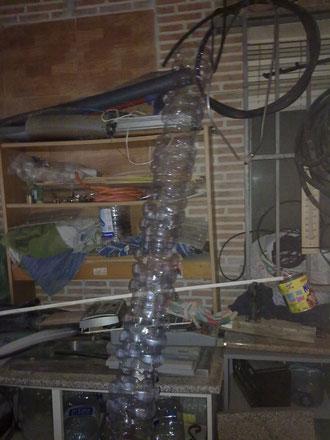 calefactor con latas