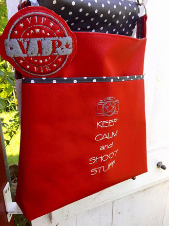Machwerk, Anna, Tasche, Rot, Keep calm, Kamera, VIP