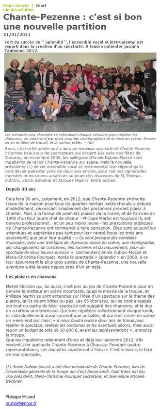 Nouvelle République - Vendredi 21 Janvier 2011