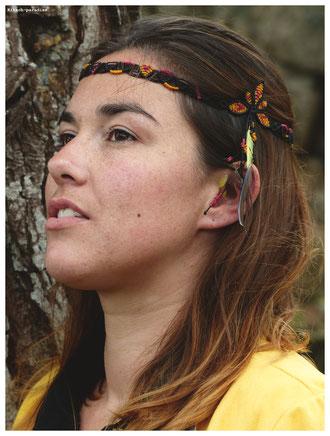 kp kitsch-paradise artisans créateur accessoire de cheveux headband macramé