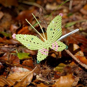kp kitsch-paradise artisans créateurs barrette papillon