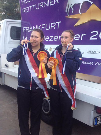 Erfolgreiches Doppel Mara Marschall und Jasmin Glahn
