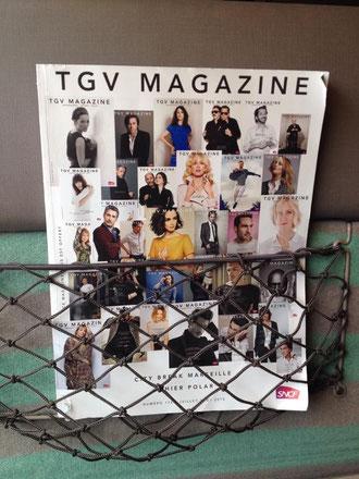 Dans le magazine TGV Magazine, partout en France...