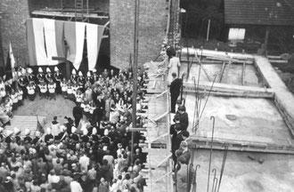 Grundsteinlegung am 27. 9. 1953