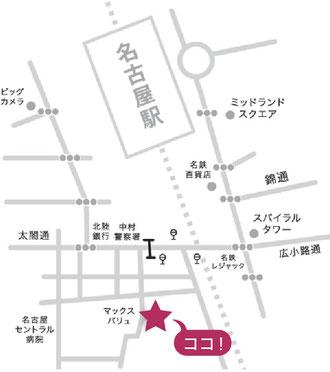 名古屋駅からの地図
