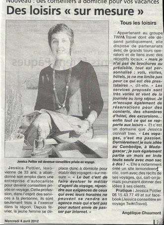 Article paru dans le journal l'Eveil le 04/04/12