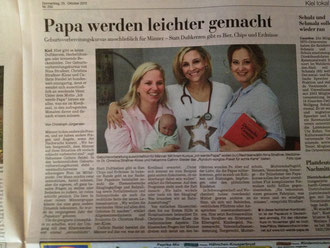 Unser Papakurs in den Kieler Nachrichten