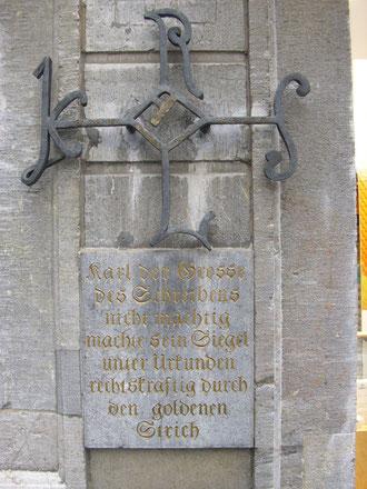 Goldener Strich von Karl dem Großen, WK