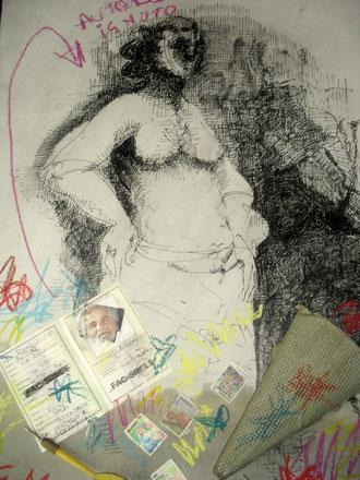 """""""La  crisi esistenziale di Athena""""opera a 4 mani con autore sconosciuto cm 60x45 october 2012"""