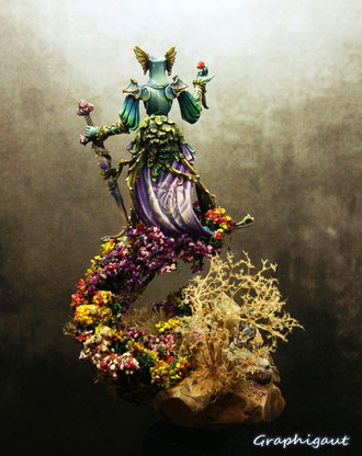 Flower Knight de Thomas David, Kingdom Death, par Graphigaut, Paiting Crusade IX
