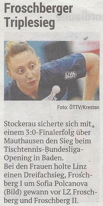 23.09.2019 Volksblatt