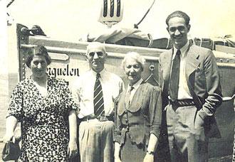 Lina und Nathan Sondheimer (links) vor ihrer Abreise am 24. Februar 1939 mit dem Schiff Kerguelen