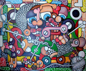 acrylique sur toile 100x80