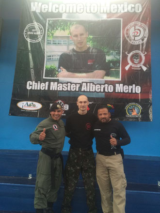 Certified Instructors Jesus Rico Uresti and Alberto Pegueros with Alberto Merlo