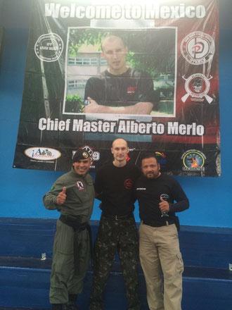 Certified Instructors Jesus Rico Uresti and Alberto Pegueros with Alberto Merlo