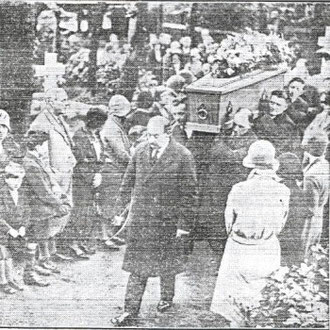 The funeral at St. Mary's (Birmingham libraries newscuttings collection)