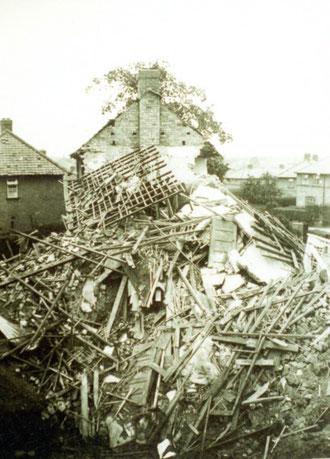 Wildfell Road bomb damage