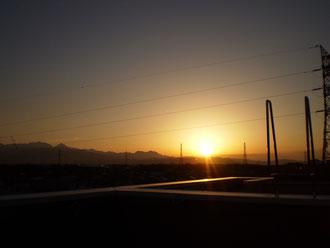 今日の夕日。希望のオレンジ色はまさにアルビレックスカラー!