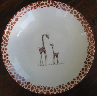 Maman girafe et son petit