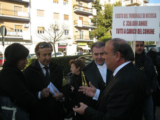 L'On.Edoardo Leanza, l'Avv. Salvatore Timpanaro e l'Avv. Piergiacomo La Via