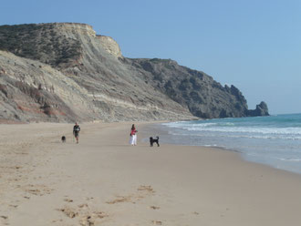 Praia da Luz, Strand und Rocha Negra, Algarve, Portugal
