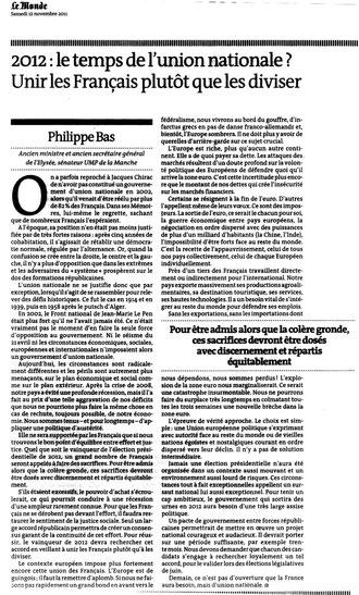 Le Monde, 14.11.2011