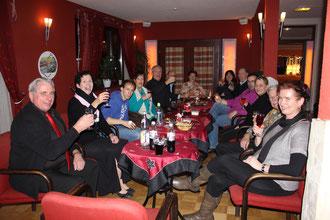 Weihnachtsfeier der Standard Turnierpaare 2012