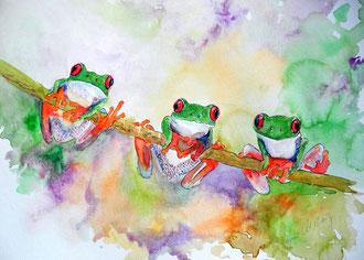 Fröhliches Frosch Trio