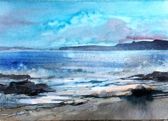 Lust auf Meer, gemalt von Jopie Bopp, Leinwandbild Poster