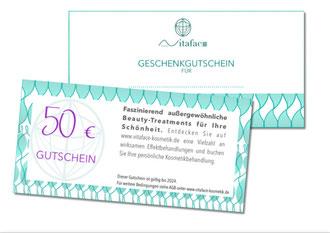 Geschenkgutschein Vitaface Kosmetik Hamburg