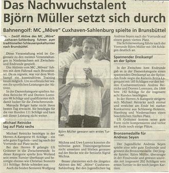 Artikel aus den Cuxhavener Nachrichten vom 27. Oktober 1999